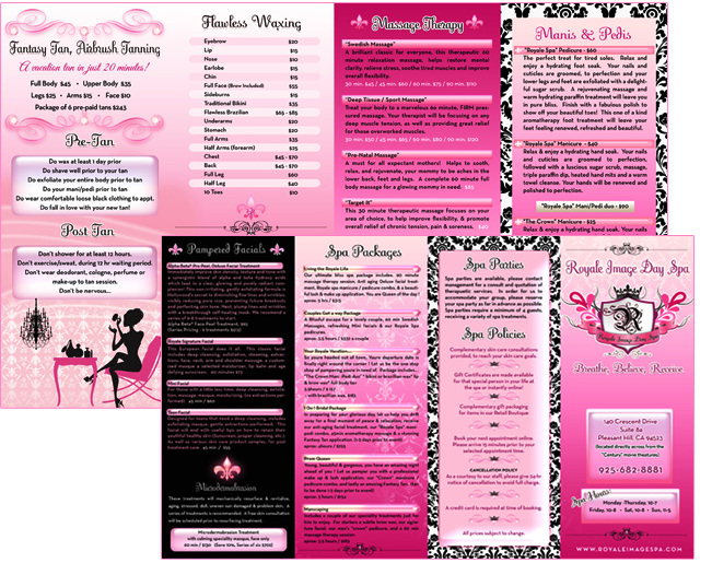 Artwork - Salon Brochures - Gd Design & Illustration